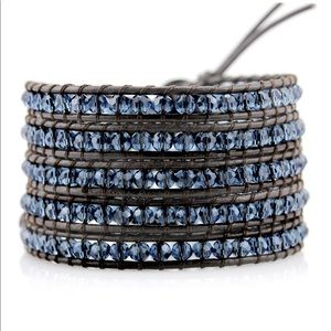 ❤️Victoria Emerson brown bracelet with blue bead❤️